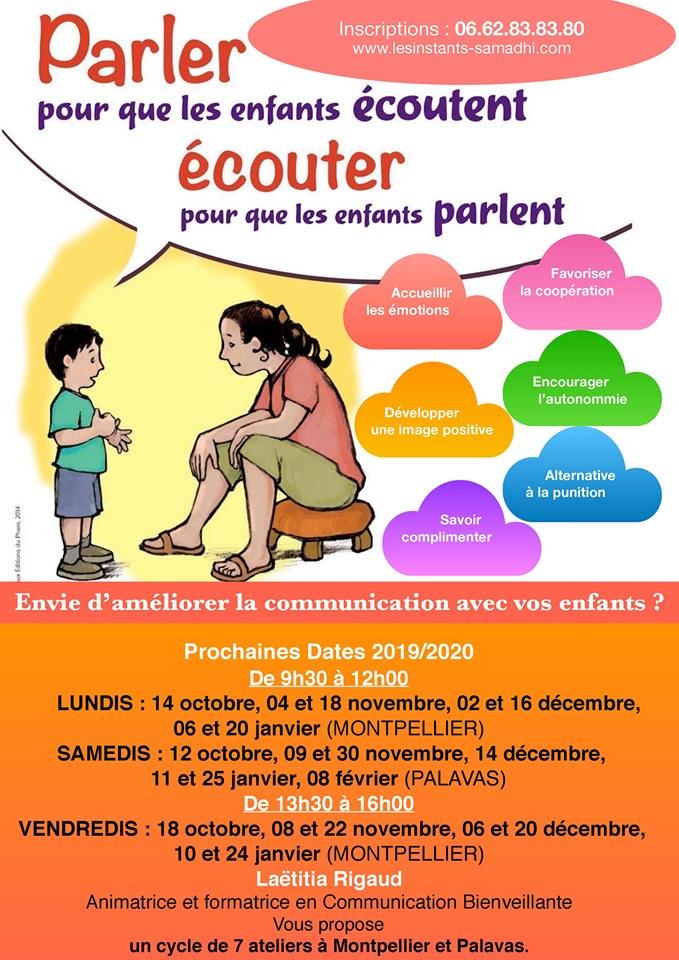 Atelier Parents - Parler pour que les enfants écoutent, écouter pour que les enfants parlent